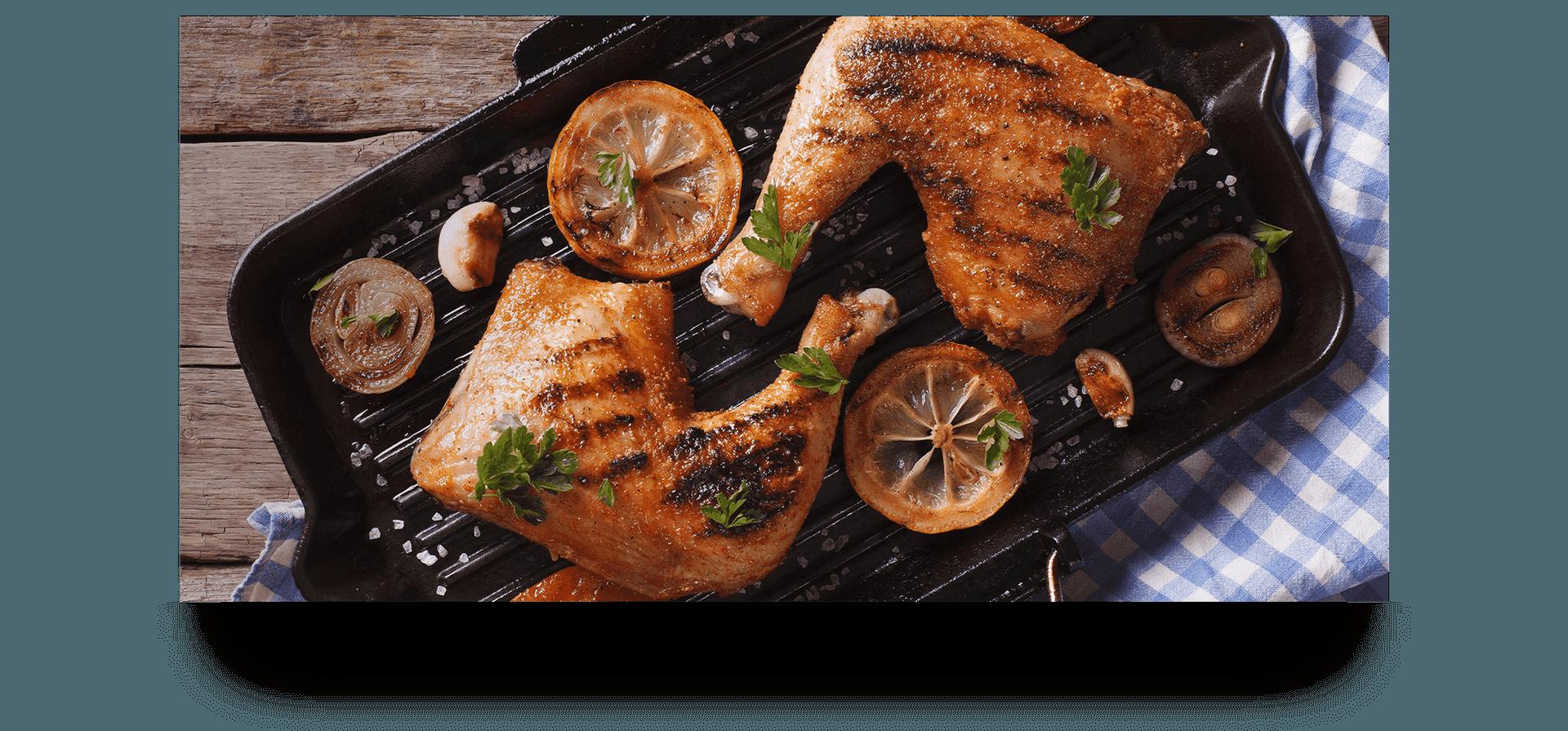 Hühnerschlegel aus dem Ofen in der Schwarzwald Küche